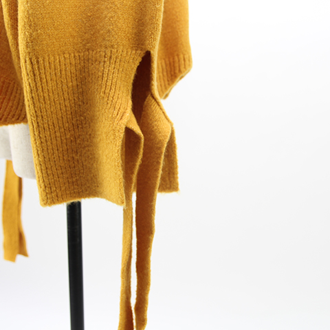 shoulder design knit