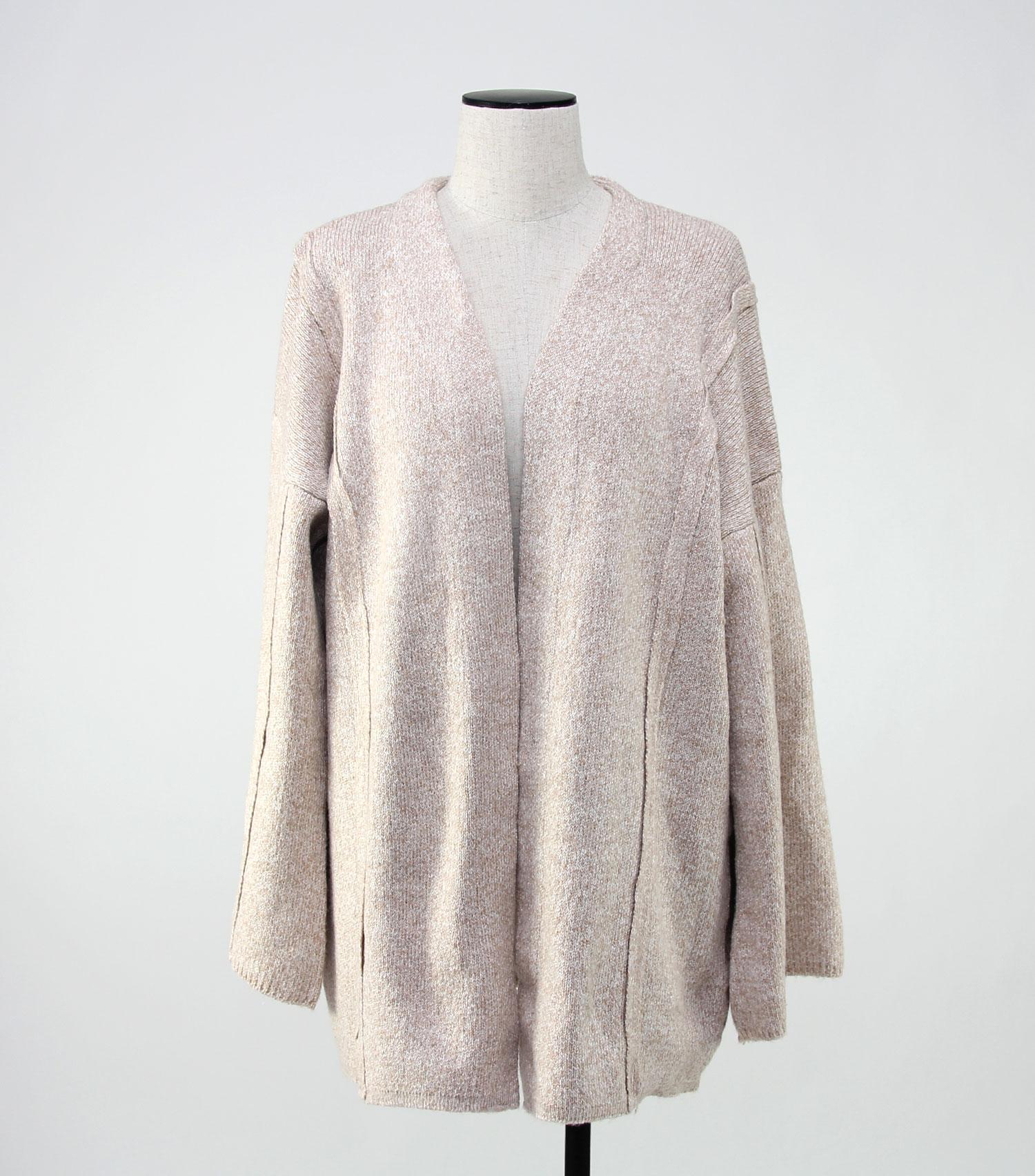 oversize knit coat